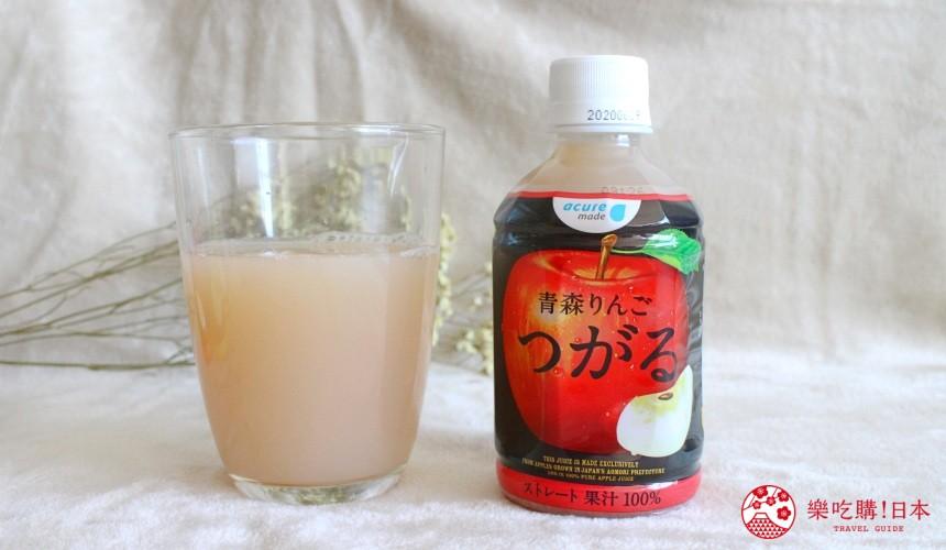 日本苹果汁推荐「acure」青森津轻苹果汁试喝果汁颜色