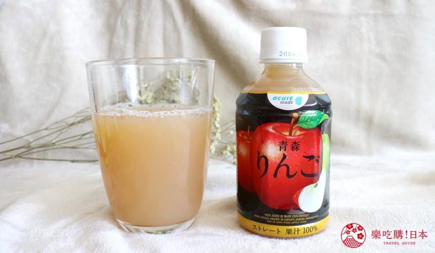 日本苹果汁推荐「acure」青森综合苹果汁试喝果汁颜色