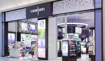 有售去日本必買美妝資生堂shiseido怡麗絲爾、肌膚之鑰的品牌美妝店COLOR STUDIO泉南店的外觀