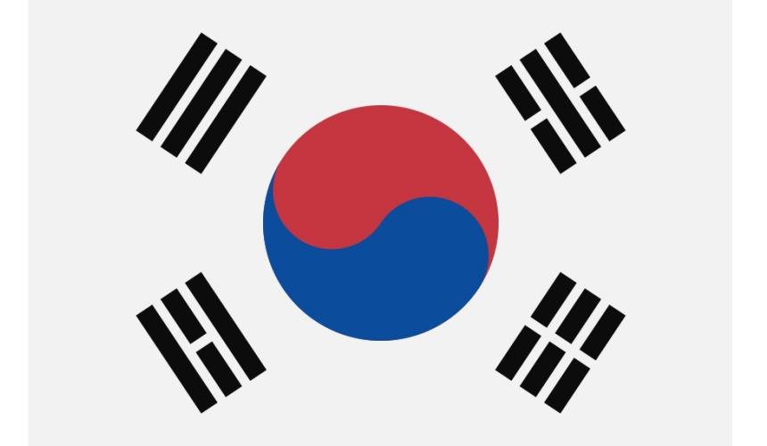 《为什么日文的「美国」叫「米国」?超难懂日语汉字国名你知道几个》的南韩国旗示意图