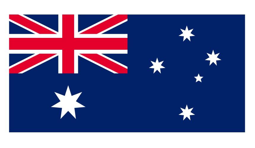 《为什么日文的「美国」叫「米国」?超难懂日语汉字国名你知道几个》的澳洲国旗示意图