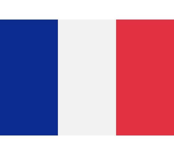 《为什么日文的「美国」叫「米国」?超难懂日语汉字国名你知道几个》的法国国旗示意图