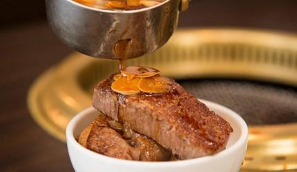 2019日本Tabelog烧肉百名店排行第二名东京和牛烧肉SATOブリアン特调蒜香酱汁