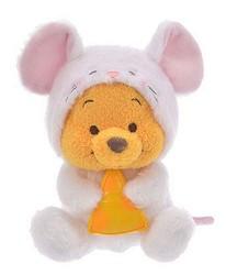 日本迪士尼商店超萌2020干支新品的小熊維尼2020鼠年小娃娃