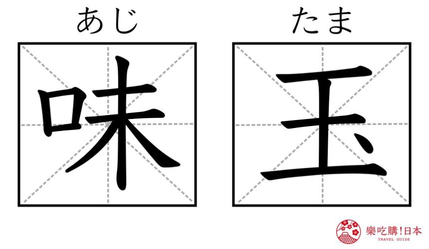 日本拉面店菜单「味玉」汉字图