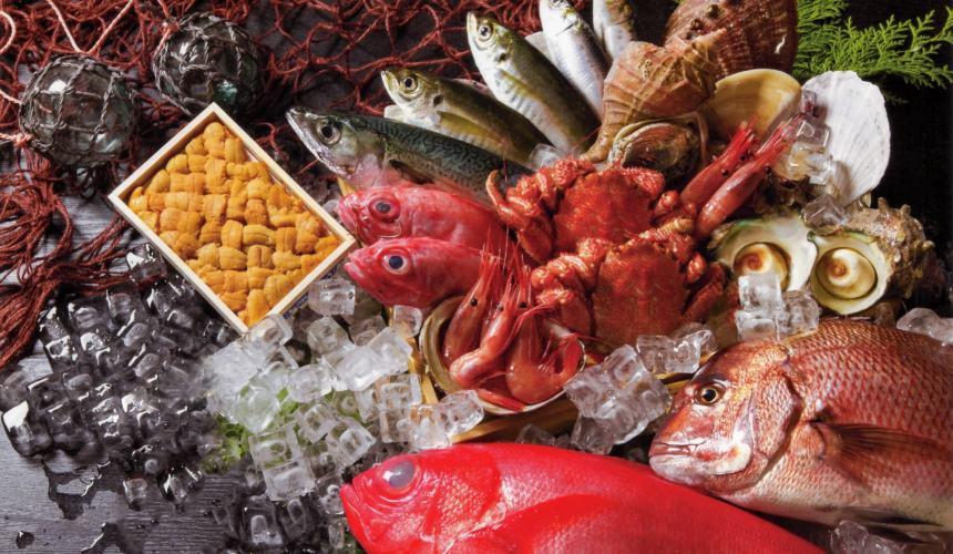 日本拉面店菜单「鱼介」形象图