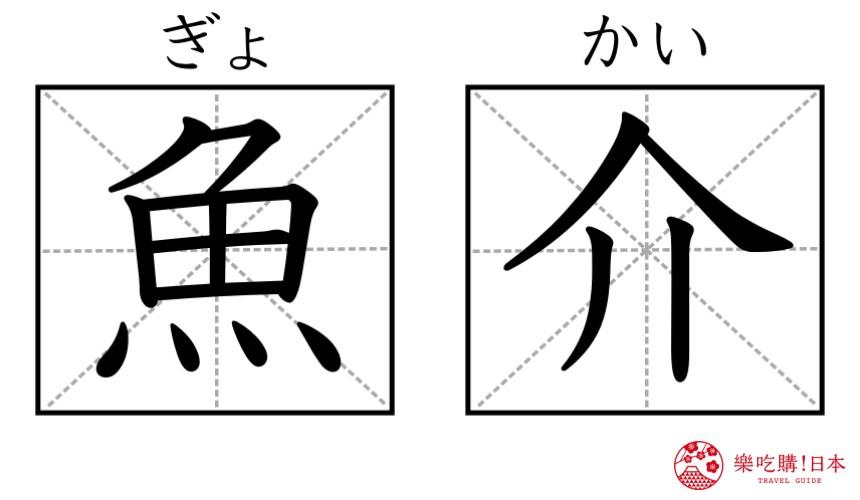 日本拉面店菜单「鱼介」汉字图