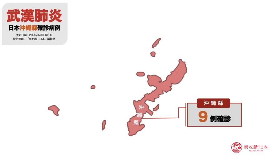 日本官方零確診2019冠狀病毒的地區是?沖繩縣疫情地圖