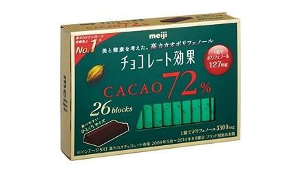 日本巧克力推薦必買明治cacao72%黑巧克力