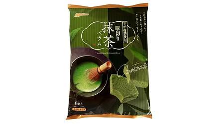 日本網購必買綠茶抹茶甜點厚切宇治抹茶年輪蛋糕