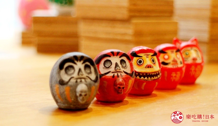 台北東區選物店MiCHi Cafe限量販售的許願不倒翁骷髏豆丁達摩款式日本名產伴手禮傳統工藝品推薦商品