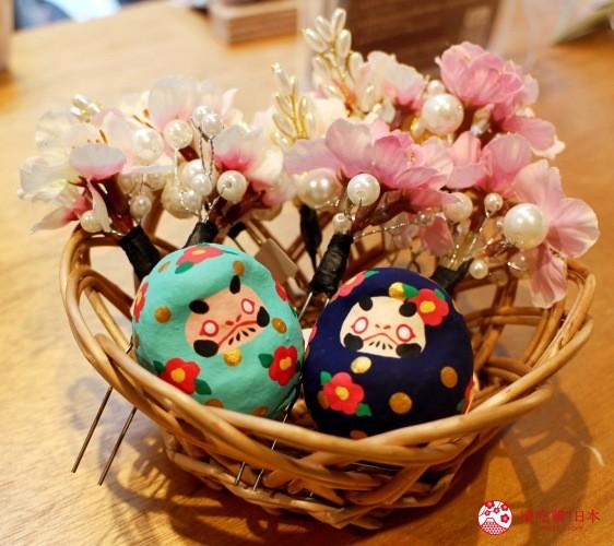 台北東區選物店MiCHi Cafe限量販售的許願達摩不倒翁小花和式日式達摩日本名產伴手禮傳統工藝品推薦商品