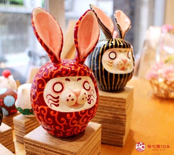 台北東區選物店MiCHi Cafe限量販售的許願達摩不倒翁兔子達摩日本名產伴手禮傳統工藝品推薦商品