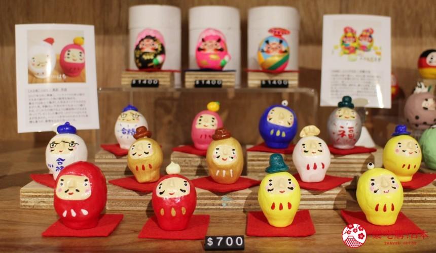 台北東區選物店MiCHi Cafe限量販售的許願達摩不倒翁造型福神達摩日本名產伴手禮傳統工藝品推薦商品