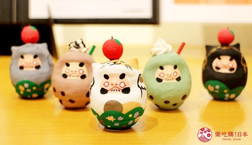 台北東區選物店MiCHi Cafe限量販售的許願達摩不倒翁,萌萌貓耳造型、珍珠奶茶款都超可愛,日本名產伴手禮傳統工藝品推薦商品