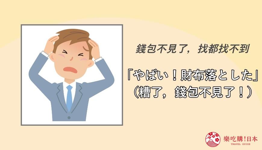日語「やばい」覺得驚嚇的時候的用法示意圖