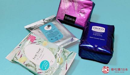 日本涼感爽身濕紙巾挑選方法