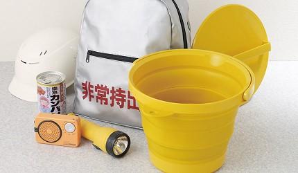 防災避難包必備清單地震颱風防災物品日本iseto伸縮摺疊式水桶