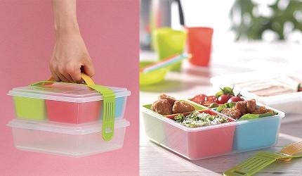 日本製便當盒必買推薦INOMATA手提式小型雙層野餐盒