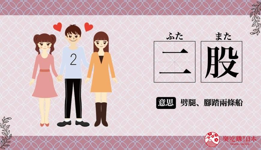 日文的「二股」唸法與中文意思是劈腿