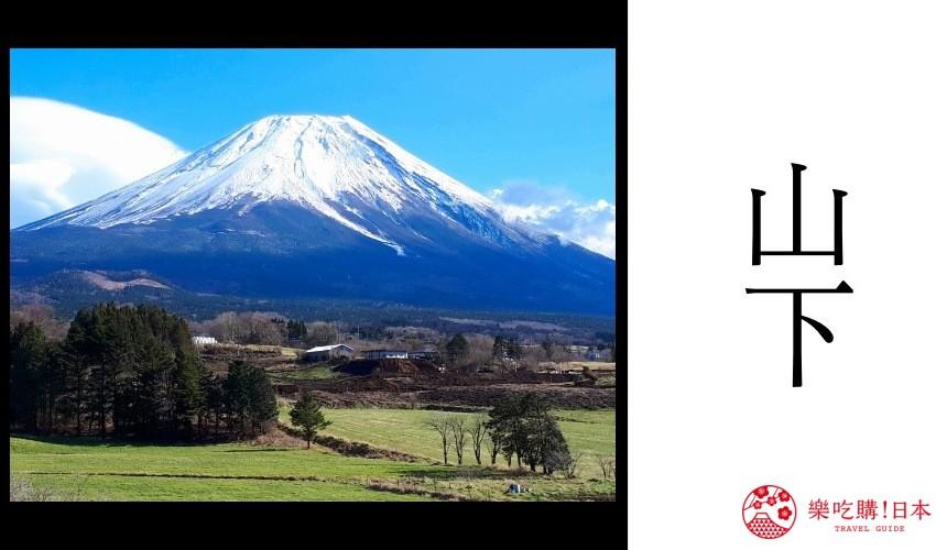 日本人姓氏「山下」示意圖
