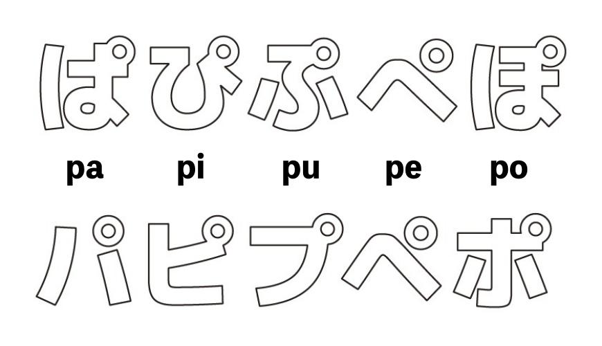 日語平假名與片假名五十音寫法示意圖