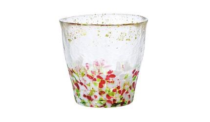 青森必買津輕琉璃夢幻玻璃杯冰華金彩春大威士忌酒杯