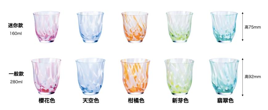 青森必買津輕琉璃夢幻玻璃杯平底玻璃杯