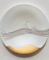日本陶瓷餐具推薦推介SIONE質感弦月對杯夢幻精緻碗盤送禮首選結婚賀禮日系餐具陶瓷藝術的陶瓷之書風系列夕山風