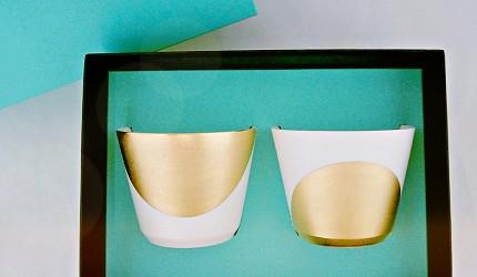 日本陶瓷餐具推薦推介SIONE質感弦月對杯夢幻精緻碗盤送禮首選結婚賀禮日系餐具陶瓷藝術的月亮迷你對杯放在包裝盒內
