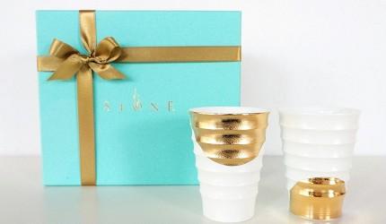 日本陶瓷餐具推薦推介SIONE質感弦月對杯夢幻精緻碗盤送禮首選結婚賀禮日系餐具陶瓷藝術的月亮陶瓷對杯包裝漂亮得體