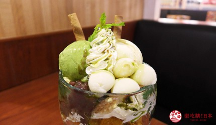 台北和民居食屋居酒屋美食必點抹茶白玉冰淇淋百匯姬路城