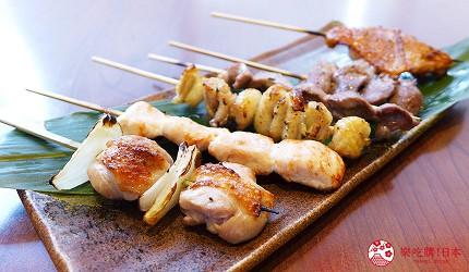 台北和民居食屋居酒屋美食必點桂丁雞串燒拼盤