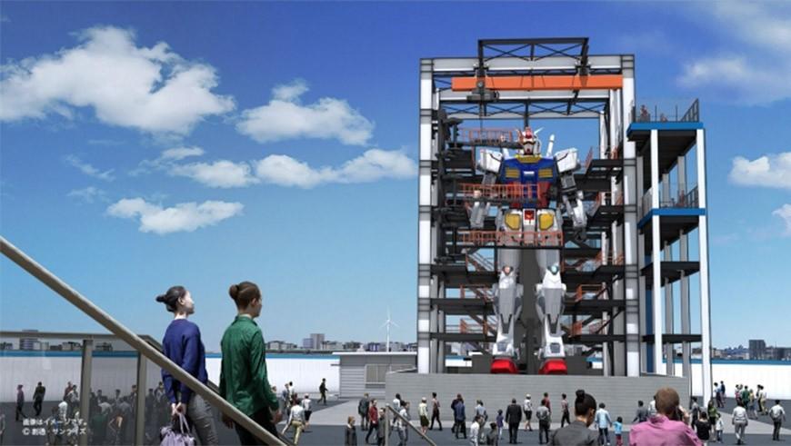 横滨「会走动的初代钢弹」示意图