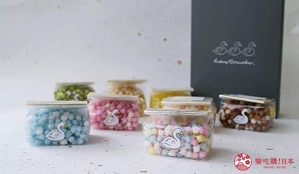 日本伴手禮推薦新潟浮星糖果罐裝8袋組裝禮盒