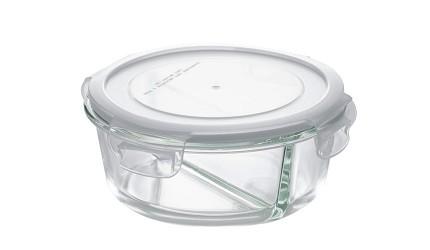 保鮮盒推薦宜得利耐熱玻璃分隔保鮮盒