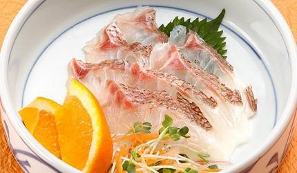 愛媛必吃美食鯛魚生魚片