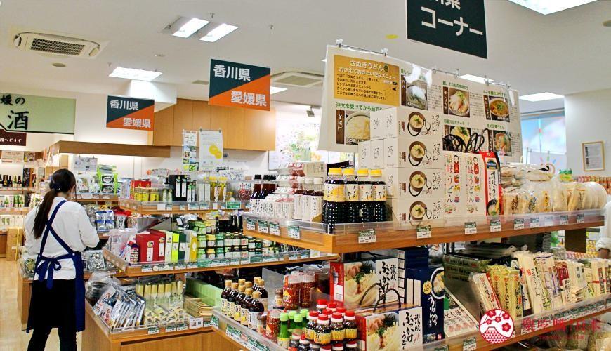 東京新橋銀座香川・愛媛瀨戶內旬彩館一樓特產品專區