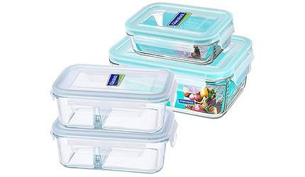 保鮮盒推薦韓國glasslock耐熱玻璃分隔保鮮盒