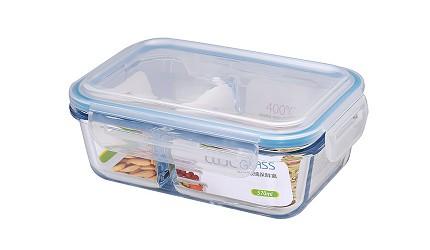 保鮮盒推薦韓國neoflam耐熱玻璃分隔保鮮盒