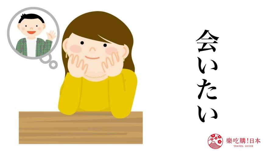 日語我愛你「会いたい」使用場合示意圖