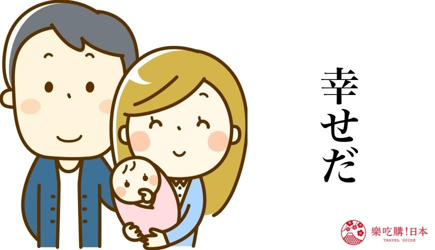 日語我愛你「幸せだ」使用場合示意圖