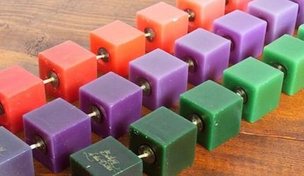 香氛蠟燭燈推薦推介DULTON方形漸層色香氛蠟燭串
