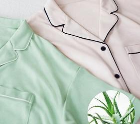 睡衣推薦推介男女睡衣套裝日系可愛日本居家服品牌GU蘆薈睡衣具有保濕抗菌效果