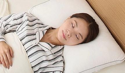 日本枕頭推薦仰睡示意圖