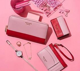皮夾錢包品牌推薦推介顏色日系甜美小資女送禮必買手機也可以放進去的拉鍊長夾紐約時尚品牌kate spade雙色長夾系列