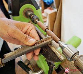 大阪自由行近郊一日遊行程推薦推介天王寺10分鐘直達松原市Nakajima 木工旋盤工坊工匠示範雕刻塑形