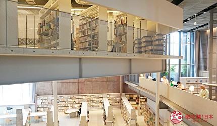 大阪自由行近郊一日遊行程推薦推介天王寺10分鐘直達松原市松原圖書館開放式格層消彌樓層間的壓迫感