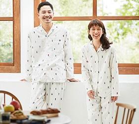 睡衣推薦推介男女睡衣套裝日系可愛日本居家服品牌Sunny Clouds的二重紗睡衣