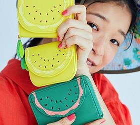 皮夾錢包品牌推薦推介顏色日系甜美小資女送禮必買雲朵圓點水果打造可愛造型TSUMORI CHISATO夏日水果造型系列系列鮮豔又可愛